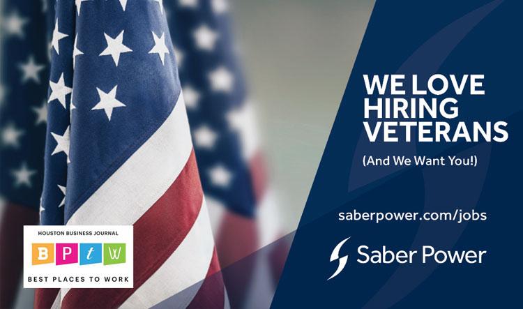 saber power loves hiring veterans